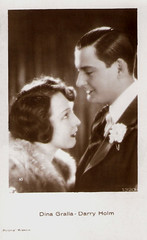 Dina Gralla and Harry Halm in Prinzessin Trulala (1926) (Truus, Bob & Jan too!) Tags: cinema film hat sepia vintage movie star kino european silent postcard picture harry polish cine screen showgirl german actress dina