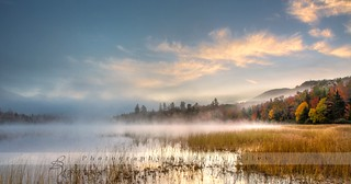 Morning fog in the Adirondacks