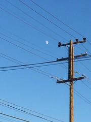 Moon Wired (Greg Vierra) Tags: moon powerlines telephonepole albanyca eastbayarea