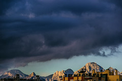 And all this as well (Melissa Maples) Tags: morning autumn mountain clouds buildings turkey dawn nikon asia apartments trkiye antalya nikkor vr afs  18200mm  f3556g  18200mmf3556g d5100