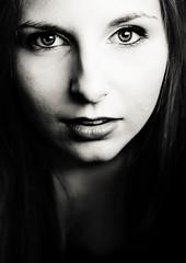 Mi-saison (Christine Lebrasseur) Tags: portrait people blackandwhite woman france art canon teenager fr onblack gironde lane saintloubes allrightsreservedchristinelebrasseur