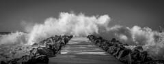 Anglet. (Jérôme Cousin) Tags: ocean sea bw mer white black beach monochrome nikon noir wave nb 64 28 monochrom tamron vague et plage pays blanc basque euskadi bayonne biarritz pyrenees bab euskal herria atlantiques 2470 anglet herri d700