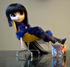 For Real (Ceci  Cuteness) Tags: girl yellow ball fur toy model chair doll body stock vinyl dal plastic planning jp geisha wig kawaii figure groove cancan bjd pullip resin custom rement ume joint jun obitsu youtsuzu