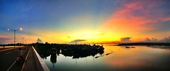Sunrise at Cansaga Bay Bridge - Mandaue City, Cebu, Philippines (khennthis) Tags: morning bridge sun colors sunrise landscape photography serenity cebu serene goodmorning mandaue cbu sugbu ceb ubec buntag cansaga cansagabay