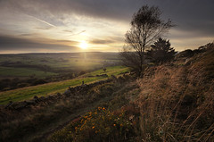 Cheese Gate Nab (andy_AHG) Tags: autumn sunset england rural walking outdoors evening countryside unitedkingdom britain yorkshire farming hills fields hepworth pennines rambling barnsley beautifulscenery southyorkshire britishcountryside cheesegatenab
