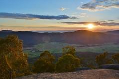 Sunrise over Orroral Valley (~Jek~) Tags: sunrise geotagged dawn australia aus namadgi orroral australiancapitalterritory orroralvalley namadginationalpark orroralgeodeticobservatory lunarlaserrocks geo:lat=3563631077 geo:lon=14893950731 granitetorswalk