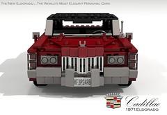 Cadillac Eldorado 1971 (lego911) Tags: auto birthday usa classic hardtop car america 1971 model lego render 71 cadillac eldorado 70s 1970s pimp 7th coupe challenge v8 cad lugnuts povray 84 pimpmobile moc ldd miniland lego911 super70ssensation lugnutsturns7…or49indogyears