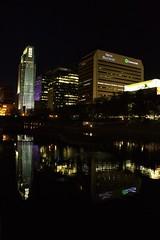 Downtown Omaha (mikedunnit) Tags: sky skyline architecture night lights midwest nebraska streetphotography omaha nightsky nightlife huskers cornhuskers