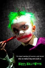 ALEX JOKER FINAL (Dave polonowski) Tags: baby halloween fun happy insane toddler dress makeup spooky fancy batman joker haunting fright 2014 todlar
