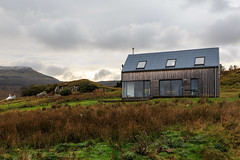 The Timber House and the clouds (peripathetic) Tags: autumn mountains building skye architecture canon scotland 5d isle 2014 macleodstable skinidin timberhouse dualchas 5dmkiii 5dmk3 canoneos5dmk3