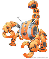 Orange Scorpion Robot (clipartillustration) Tags: orange eye metal modern illustration bug computer insect lens robot 3d scary dangerous eyes shiny technology graphic legs threatening arachnid tail internet machine artificial sharp plastic scorpion glossy intelligence chrome claw data cyborg creature information virus vector futuristic automation claws pinch cybernetics parasite banded robotic jointed nanotechnology pinchers webcrawler