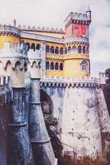 Pena National Palace (tropeone) Tags: world summer mountain castle heritage history portugal europe king fuji hill sintra palace unesco national age revolution fujifilm pena middle 2014 x100s