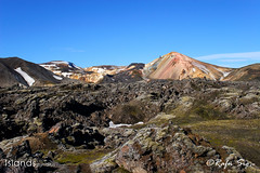 Rhyolite mountain with Lava in front