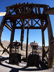 Bodie Ghost town, California (sensaos) Tags: california park travel usa abandoned america town state decay united nevada ghost sierra historic mining fisheye forgotten ghosttown bodie states derelict abandonment miningtown bodiestatehistoricpark 2013 sensaos minington