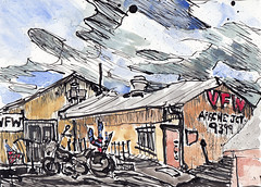 Apache Junction VFW (Kerry Niemann) Tags: vfw apachejunction watercolordrawing