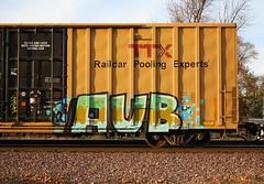 AUB (quiet-silence) Tags: railroad art train graffiti railcar boxcar graff freight aub tbox ttx fr8 tbox663710