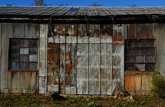 Abandoned (davidwilliamreed) Tags: door old windows abandoned metal rust decay grunge neglected rusty textures forgotten weathered crusty corrugated patina spartaga