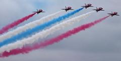 Red White & Blue (CharlieH76) Tags: plane display smoke formation redarrows bigginhill