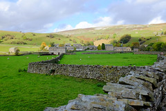 Swaledale  ~Explored~ (wivvy is getting there.) Tags: sky sunlight landscape view hills drystonewall yorkshiredales swaledale x100s
