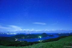 Kawachi Pass at Midnight (tomosang R32m) Tags: longexposure japan night star midnight nagasaki touge   hirado     kawachipass