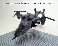Lego Halo UNSC Falcon (Chris_cobra) Tags: space united halo falcon reach uh command nations spartan 117 144 unsc odst uh144