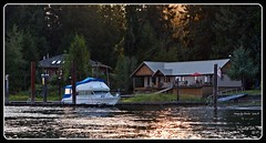 River retreat (Images by Christie  Happy Clicks for 2016!) Tags: sunset summer canada beautiful river relax evening boat dock cabin woods nikon bc sundown yacht cottage fave explore mooring boating riverbank summerhome