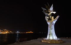 Kusadasi El (ibrahimoktay) Tags: travel night turkey kusadasi meydan turke d3200 18105mm guvercinada