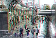 Koopgoot City-center Rotterdam 3D (wim hoppenbrouwers) Tags: koopgoot rotterdam 3d anaglyph stereo redcyan citycenter