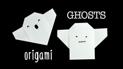 Easy Origami Ghost Tutorial  Halloween DIY  Paper Kawaii (paperkawaii) Tags: origami instructions paperkawaii papercraft diy how video youtube tutorial
