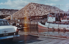 Canada Docks 1958 (Vintage car nut) Tags: old vintage antique 1950s 1958 1955 ford tugboat docks nautical