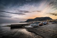 Aspra (PA) - Scalo di ponente (ettorelomb) Tags: aspra sunrise colors costa alba palermo beach italy boat sicily