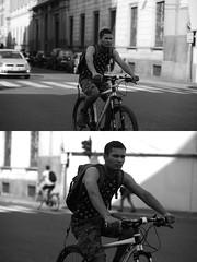[La Mia Citt][Pedala] (Urca) Tags: milano italia 2016 bicicletta pedalare ciclista ritrattostradale portrait dittico nikondigitale mir bike bicycle biancoenero blackandwhite bn bw 89852