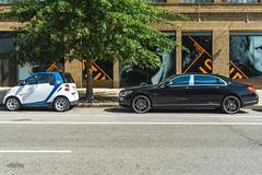 Maybach or Smart Car? (erikcoxphotography) Tags: washingtondc maybach smartcar