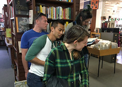 Bookshelf  CO&P SF 2016  Urban Explorations (joshleejosh) Tags: coap coapsf comeoutandplay comeoutandplaysf coapsf16 games play art community readers bookstore bookshelf scavengerhunt books urbanexplorations