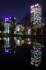 FFM (felix fabian) Tags: frankfurt bulidung lake nightshot architecture lights luminale
