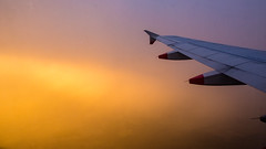 Sunrise over English Channel 15 October 2016 (BaggieWeave) Tags: gatwick gatwickairport easyjet britishairways sunrise a320 airbusa320 airbus cloud clouds