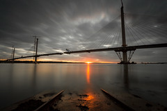 The Missing Bit (Kyoshi Masamune) Tags: sunset forth kyoshimasamune scotland panorama northsea northqueensferry lowtide hightide queensferrycrossing bridge ultrawideangle wideangle longexposure zomei nd8 cokinfilters cokinnd8 clouds cloudscape fife fifecoast kingdomoffife firthofforth edinburgh nd1000 uk zomeind1000