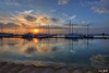 Sunset @Nongsa Beach (Ken Goh thanks for 2 Million views) Tags: ngsa resort beach boats sunset golden sun blue sky reflection water moving clouds smooth silhouette pentax k1 sigma 1020