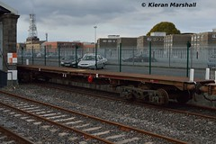 24366 at Limerick, 22/10/16 (hurricanemk1c) Tags: limerick railways railway train trains irish rail irishrail iarnrd ireann iarnrdireann 2016 pwd flat wagons 24366