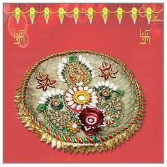 Pooja Thali for Sale, Decorative pooja thali - Vedic Vaani (vedicvaani) Tags: plate thali puja thalis pooja set container designer plates decorative pujan