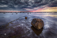 A touch of pink (Brian Bornstein) Tags: leefilters northernbeaches sunrise water brianbornstein rocks longreef seascape reef canon6d nsw clouds