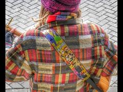 Harlequin Busker (mowngorilla) Tags: busker music strret chester city musician texture
