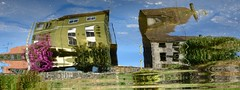 House Party (andressolo) Tags: distortion distortions distorted reflection reflect reflected reflections reflejo reflejos ripples river ripple ro water agua tea house houses homes