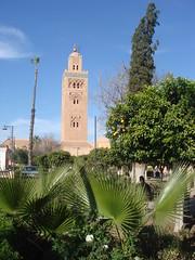 La_Koutoubia,_Marrakech_2 (Abbey_L) Tags: lakoutoubia marrakech minaret morocco mosque mosquelakoutoubia orange orangetree palm palmtree tower tree
