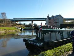 Fast and Slow (Thomas Kelly 48) Tags: leedsliverpoolcanal canal burscough gathurst panasonic lumix fz150 m6 narrowboat canalboat
