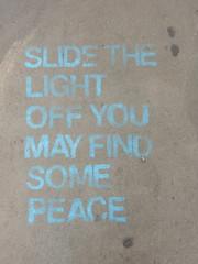 Slide the light off, you may find some peace (aestheticsofcrisis) Tags: street art urban intervention streetart urbanart guerillaart graffiti newyork newyorkcity ny nyc lowereastside stencil pochoir schablone schablonengraffiti