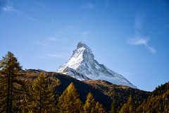 Mighty Matterhorn (chriscom) Tags: matterhorn switzerland zermatt autumn alps mountains sky fuji xt1