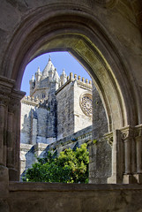 Evora Cathedral Cloisters (Carolbreeze99) Tags: portugal evora cathedral church ecclesiastical cloister window through framed framing light shade