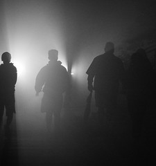 Foggy Night Football Fans; Manhasset, New York (hogophotoNY) Tags: hogophoto howardgorchov howardgorchovphotography manhasset newyork unitedstates us fog foggy weather longisland longislandny longislandnewyork newyorkus foggynight cool lighting foggyweather nite night