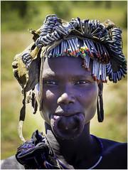Mursi Tribe Woman (Luc V. de Zeeuw) Tags: color ethiopia girl headdress mun mursi omo omovalley tribe woman southernnationsnationalitiesandpeoplesregion